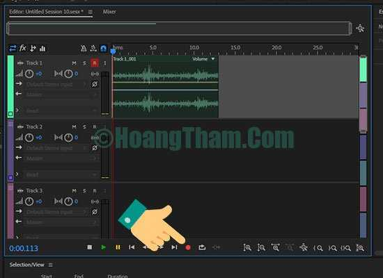 Thu âm trên máy tính bằng phần mềm adobe audition 15