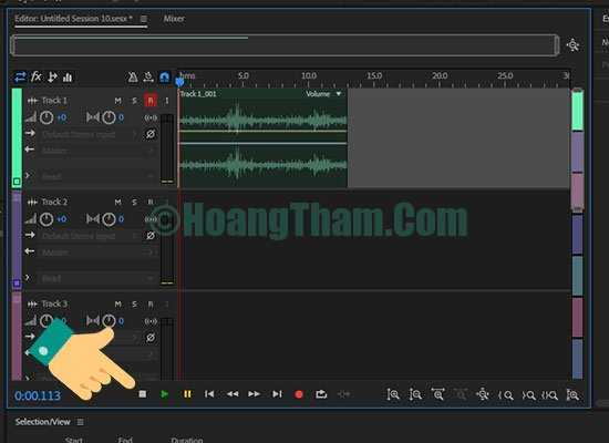 Thu âm trên máy tính bằng phần mềm adobe audition 16