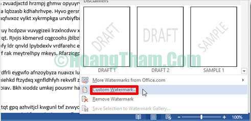 Cách chèn ảnh trong word - chèn logo và chữ watermark 14