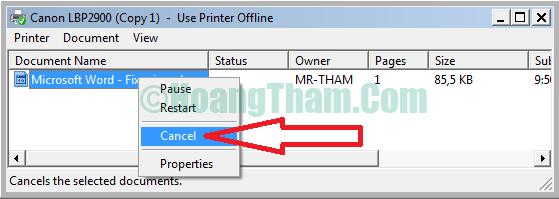 Cách hủy lệnh in đơn giản trên máy tính 7