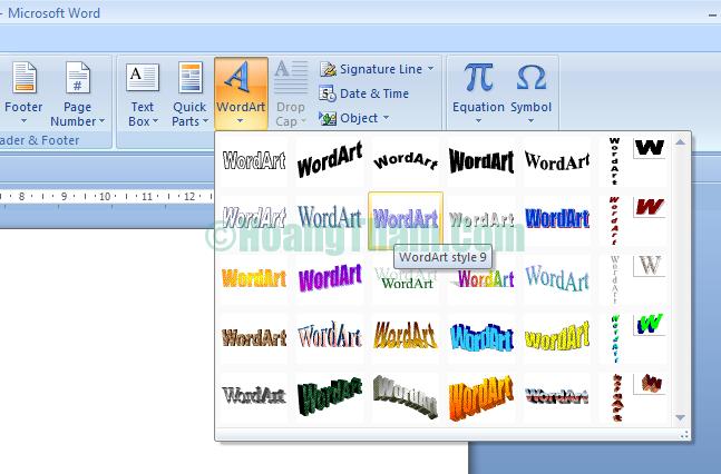 Cách xoay chữ trong Word 8