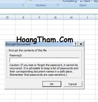 1. Cách đặt mật khẩu cho file trên Excel 2007