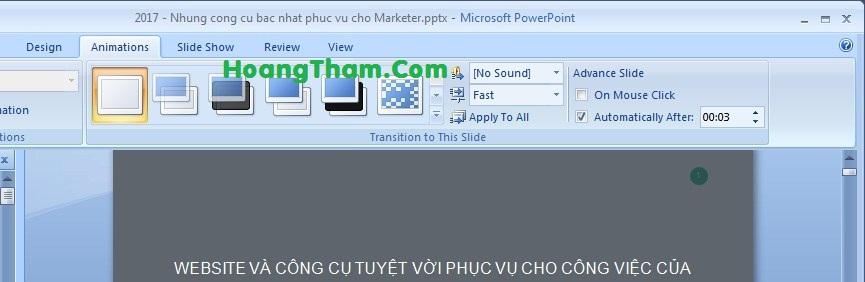 cách làm slide tự động chạy trong powerpoint 4