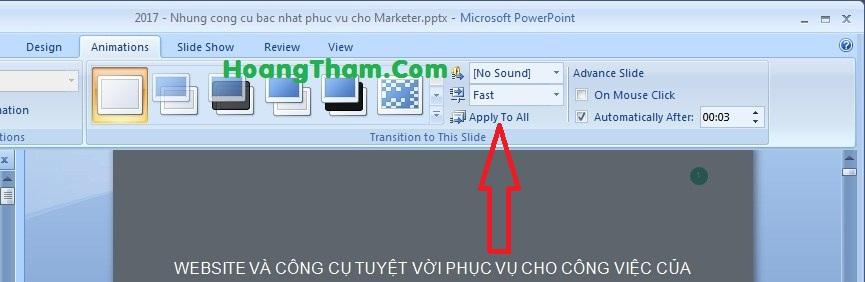cách làm slide tự động chạy trong powerpoint 5