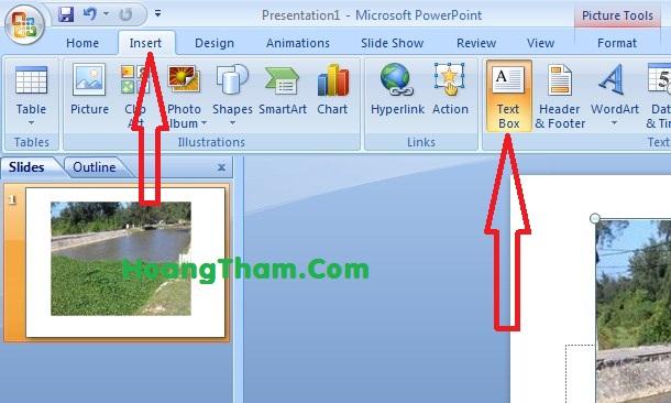 Cách viết chữ lên ảnh trong powerpoint 3