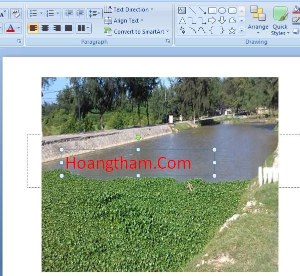 Cách viết chữ lên ảnh trong powerpoint 4