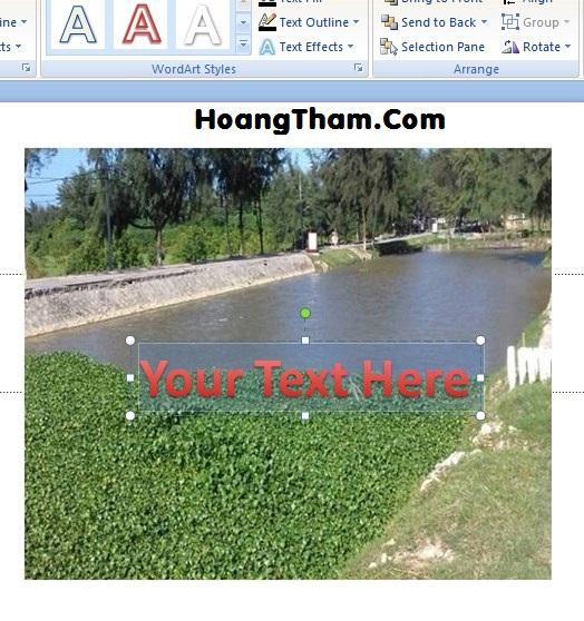 Cách viết chữ lên ảnh trong powerpoint 6