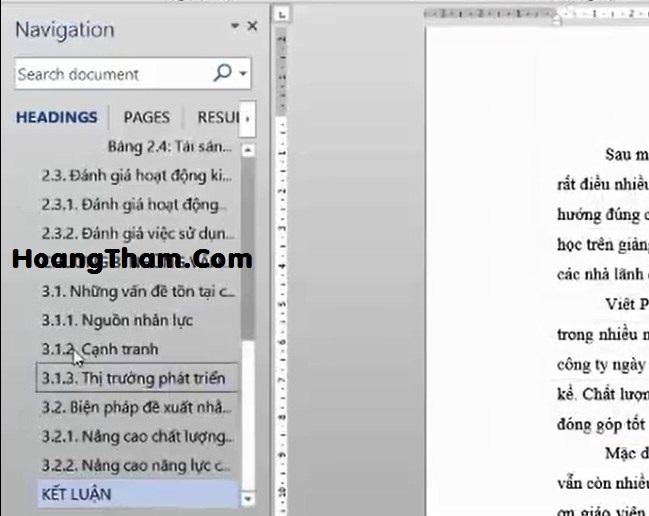 Cách tạo mục lục tự động trong Word 2013-9