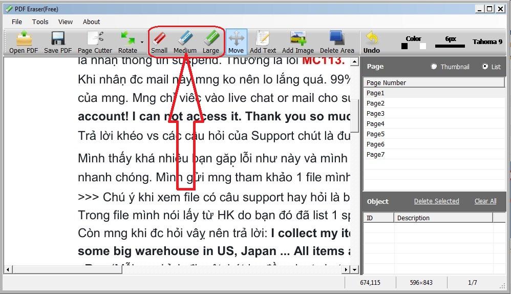 Hướng dẫn cách xóa chữ trong file pdf 3