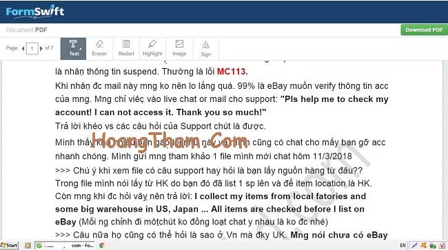 Hướng dẫn cách xóa chữ trong file pdf 7