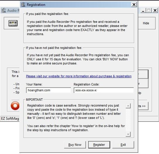 Phần mềm ghi âm trên máy tính Audio Recorder Pro 14