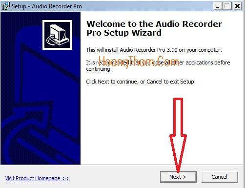 Phần mềm ghi âm trên máy tính Audio Recorder Pro 2