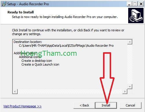 Phần mềm ghi âm trên máy tính Audio Recorder Pro 5
