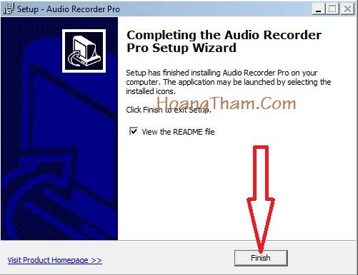 Phần mềm ghi âm trên máy tính Audio Recorder Pro 7