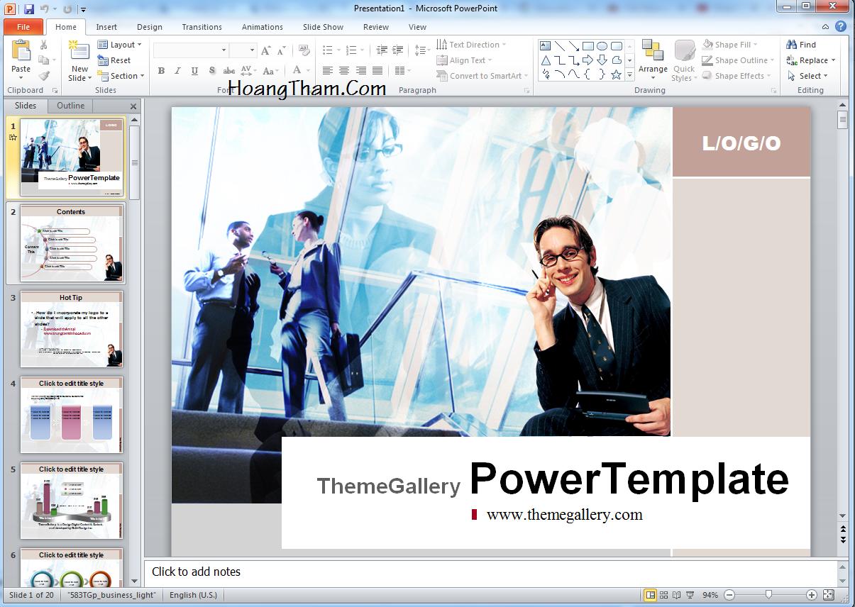 slide dep - template powerpoint dep ve kinh doanh
