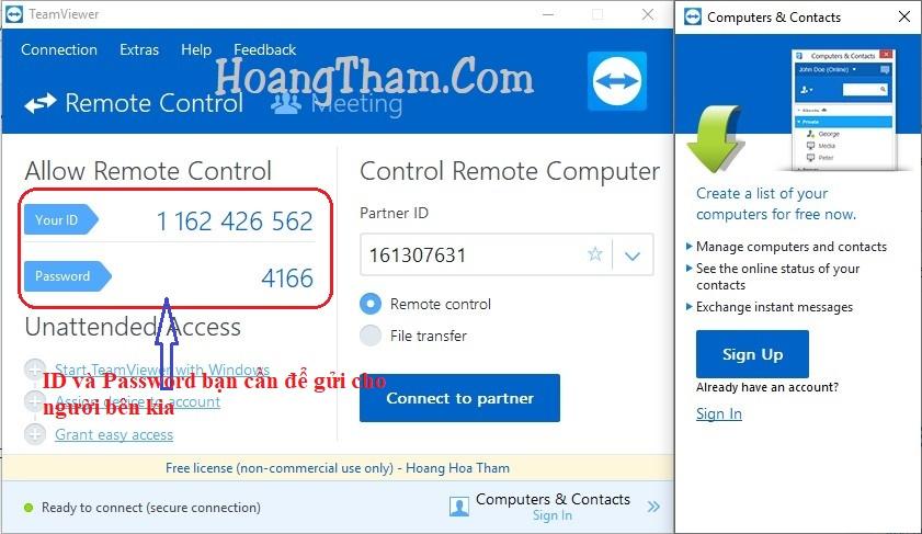 Teamviewer 12 - phần mềm điều khiển máy tính từ xa 5