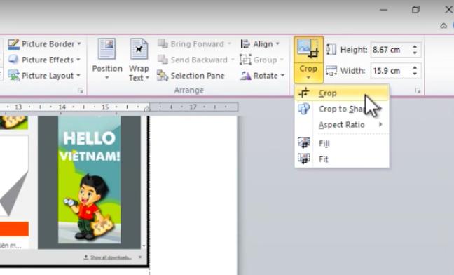 Cách chụp ảnh màn hình máy tính trong Word 3