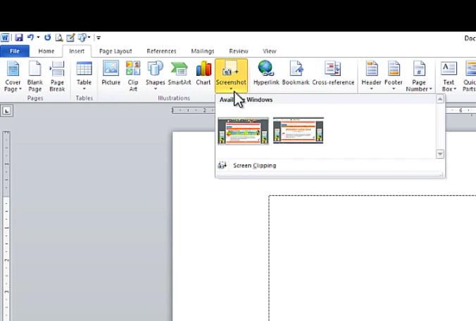 CÁch chụp ảnh màn hình máy tính bằng Word 1