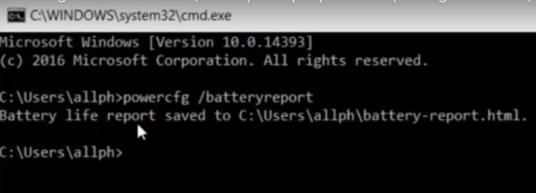 Cách kiểm tra độ chai pin laptop 5