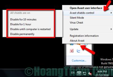 Cách tắt phần mềm diệt virus tạm thời 1