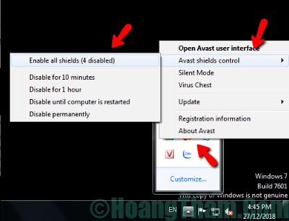 Cách tắt phần mềm diệt virus tạm thời 7