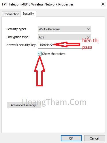 Cách xem mật khẩu wifi win 10