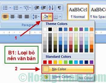 Cách xoá màu nền trong văn bản Word 3