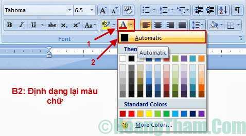 Cách xoá màu nền trong văn bản Word 4