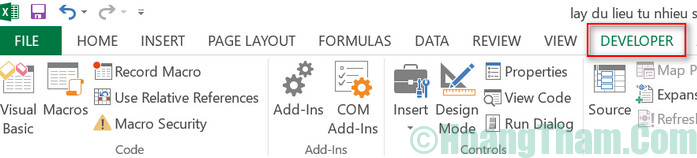 Cách tạo button trong Excel 2