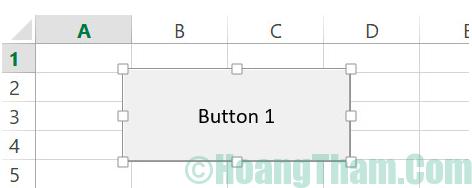 Cách tạo button trong Excel 5