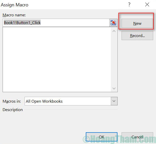 Cách tạo button trong Excel 7