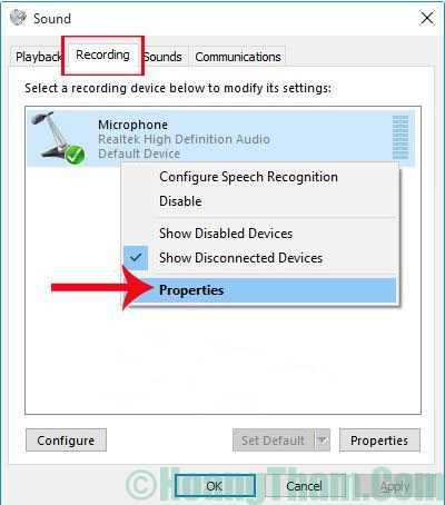 Cách thiết lập và cài đặt microphone cho máy tính 155