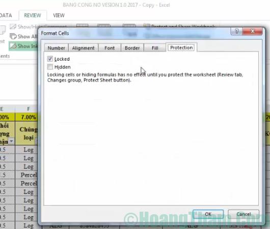 Cách khoá ô chứa công thức trong Excel 3