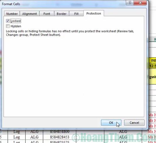 Cách khoá ô chứa công thức trong Excel 7