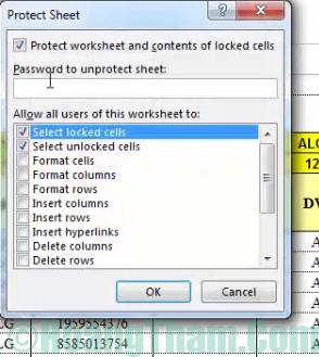 Cách khoá ô chứa công thức trong Excel 9