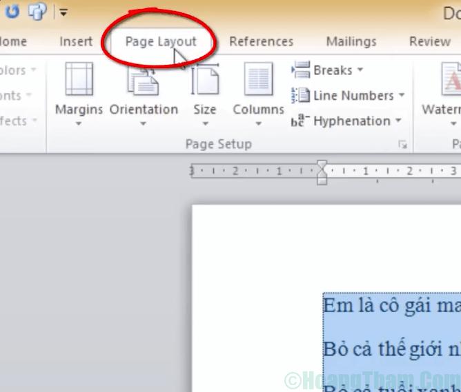 Cách chia cột trong word 2010 đơn giản 3
