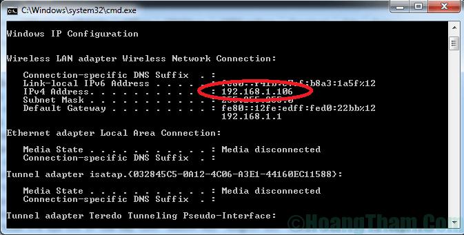 Cách kiểm tra địa chỉ ip của máy tính 3