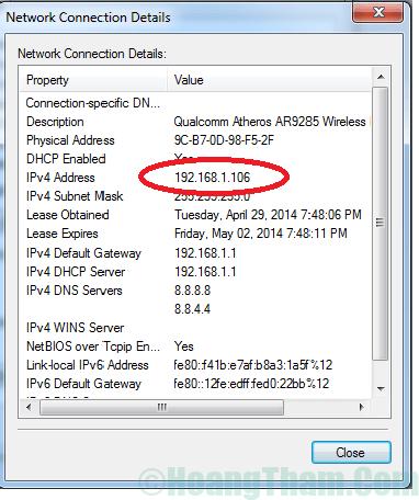 Cách kiểm tra địa chỉ ip của máy tính 9