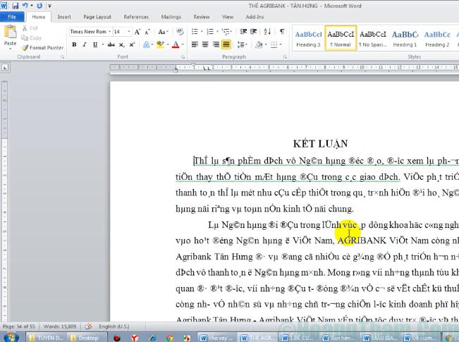 Cách sửa lỗi font chữ trong Word 1