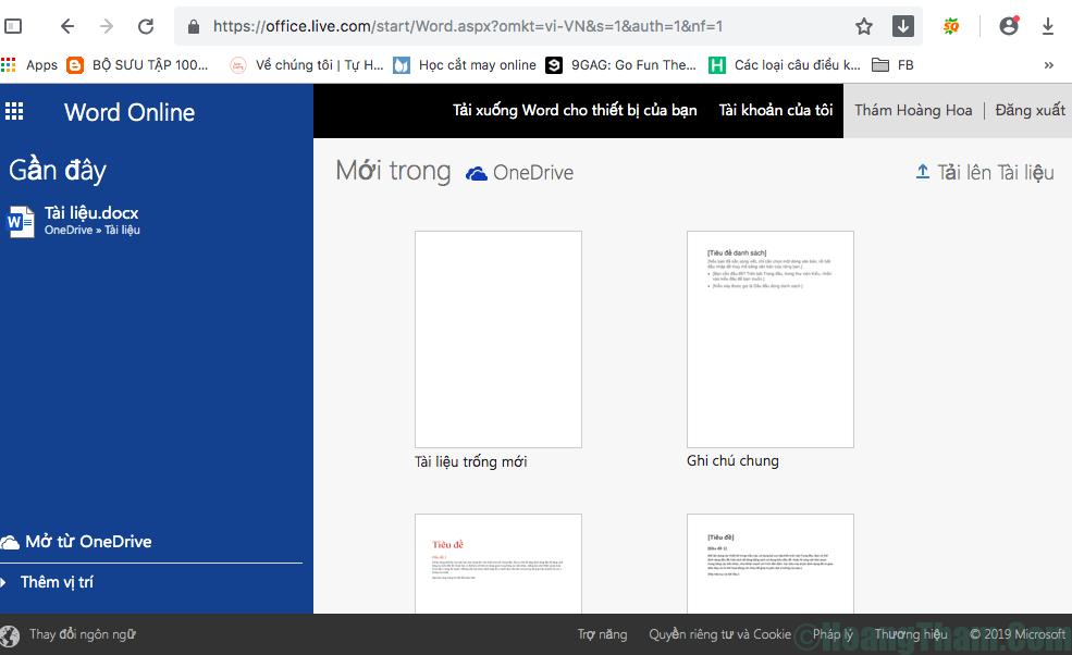 Hướng dẫn sử dụng microsoft word online 2