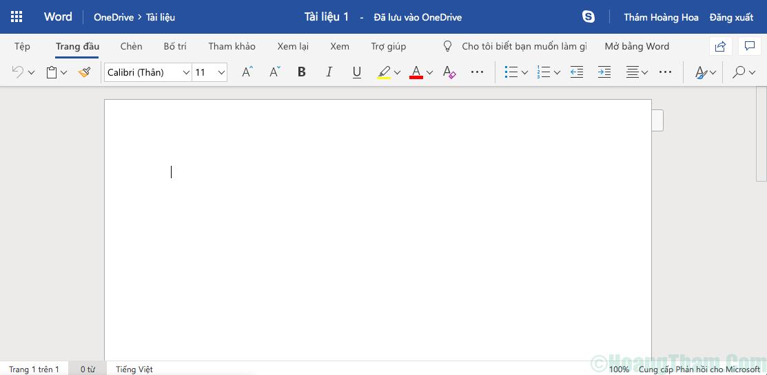 Hướng dẫn sử dụng microsoft word online 3