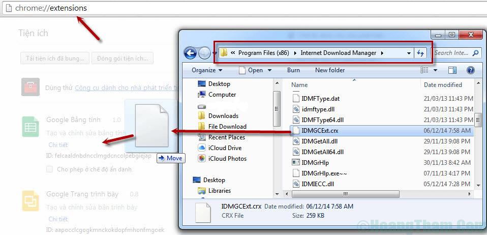 Thêm idm cc vào chrome và cách bật tắt idm download 2