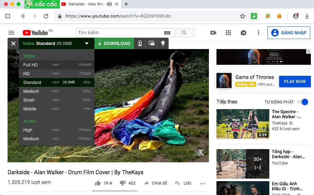Cách tải video trên youtube về máy tính - download youtube 1