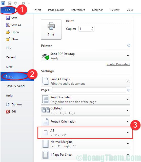 Cách in khổ giấy A5 đơn giản nhất 2