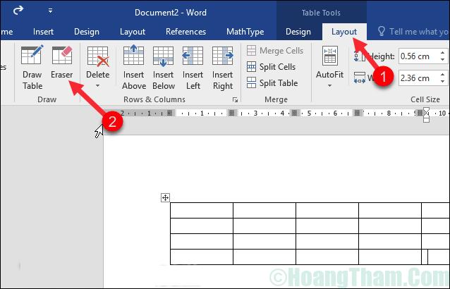 Cách xoá đường kẻ bảng trong Word 1