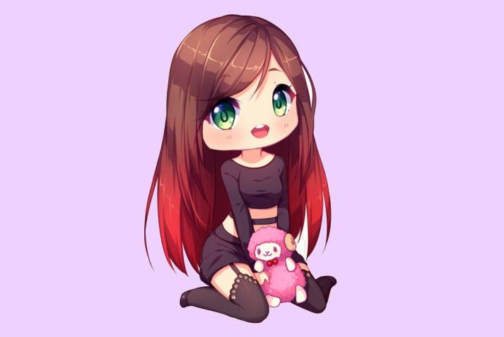 anh chibi girl cute 120352054