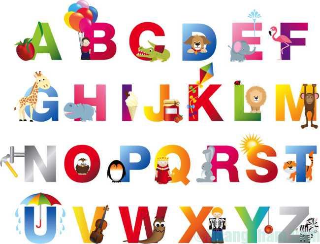 Bảng chữ cái tiếng Anh đơn giản 10