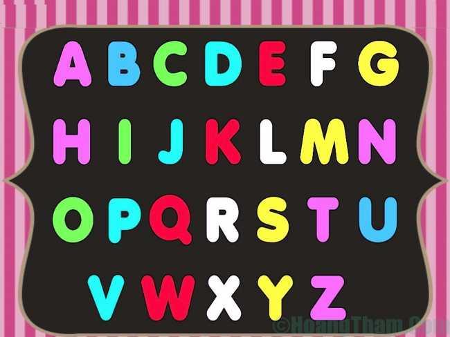 Bảng chữ cái tiếng Anh đơn giản 23
