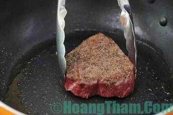 cách làm bò bít tết tại nhà