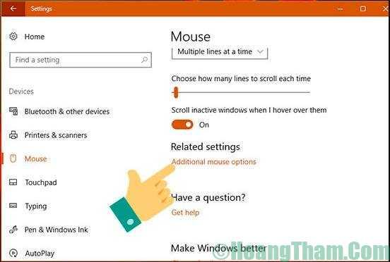 Cách chỉnh tốc độ con trỏ chuột
